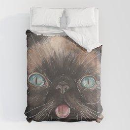Der the Cat - artist Ellie Hoult Duvet Cover