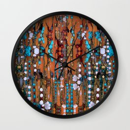 Abstract Indian Boho Wall Clock