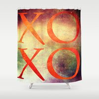xoxo Shower Curtains featuring XoXo by Fine2art