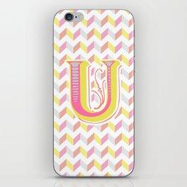 Letter U iPhone Skin