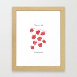 roses are red, strawerries too Framed Art Print