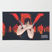daryl dixon Area & Throw Rugs featuring The Walking Dead: Daryl Dixon by Akyanyme