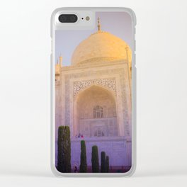 Morning Colors over Taj Mahal Clear iPhone Case