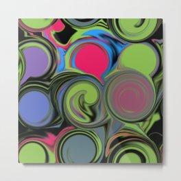 Paint can swirls Metal Print