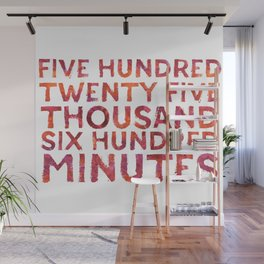 Five Hundred Minutes Wall Mural
