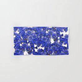 Little Blue Flowers on White Hand & Bath Towel