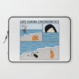 Cats During Emergencies Laptop Sleeve