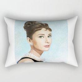 Audrey Hepburn Breakfast at Tiffany's Rectangular Pillow