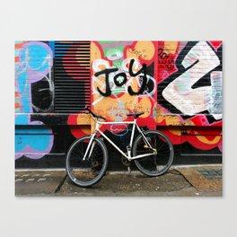 Joy & bike Canvas Print