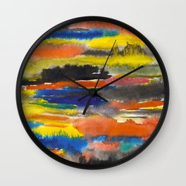 ABSTRACT LANDSCAPE Wall Clock