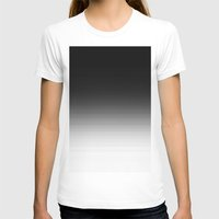 ombre T-shirts featuring Black Ombre by 2sweet4words Designs