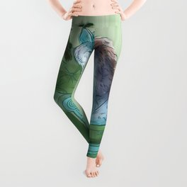 animals in chars #3 The Wolf and the Raven Leggings