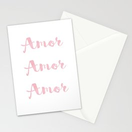 Amor Amor Amor Stationery Cards
