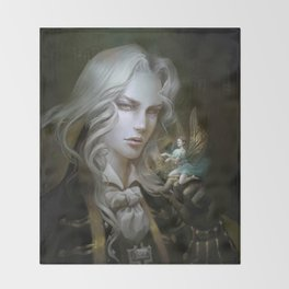 Alucard. Castlevania Symphony of the Night Throw Blanket