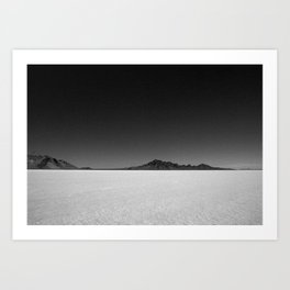 Bonneville Salt Flats Art Print