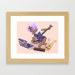 Bass Girl Framed Art Print