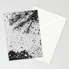 Rain water droplets on windscreen Stationery Cards