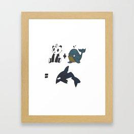 1+1 Framed Art Print