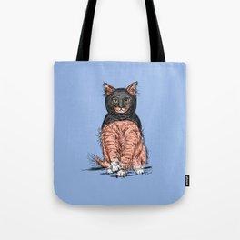 Periwinkle Pink Bat Cat Tote Bag