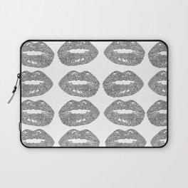 Doodle bitten lip pattern Laptop Sleeve