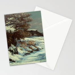 """Gustave Courbet """"Effet de neige (Snow Effect)"""" Stationery Cards"""