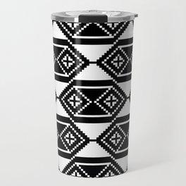 Traditional Romanian folk art knitted embroidery pattern Travel Mug