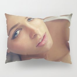sexy ass babe pinup beach boobs girl chick sexy hot nasty tits nude naked bed mouth skirt slut hair Pillow Sham