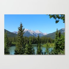 Along The Bow Valley Parkway Canvas Print
