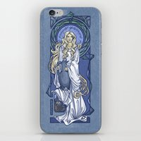 hallion iPhone & iPod Skins featuring Galadriel Nouveau by Karen Hallion Illustrations