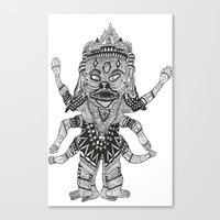 yeti Canvas Prints featuring Yeti by Guice Mann