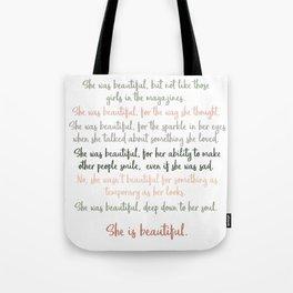 She Was Beautiful By F. Scott Fitzgerald 3 #minimalism #poem Tote Bag