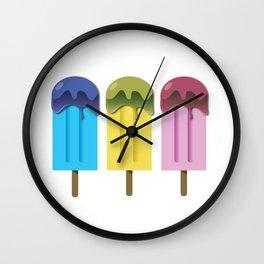 Yummy Popsicles Wall Clock
