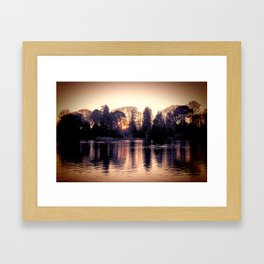 Sunset across the Lake. Framed Art Print