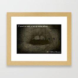 DAIDO MOUTH Framed Art Print