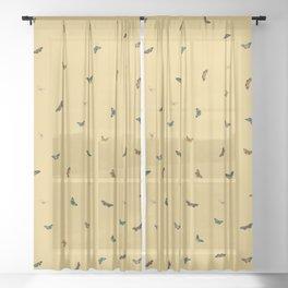 Twiggy Surprise (Yellow) Sheer Curtain