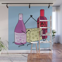 A Little Wine and Cheese Thing Wall Mural