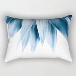 Agave geo fringe - blue Rectangular Pillow