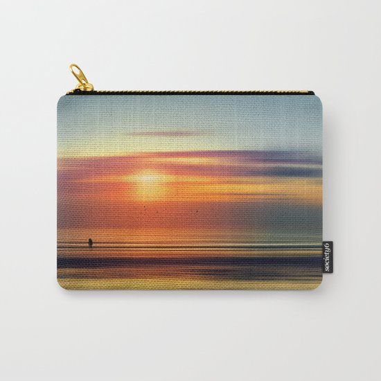 Bright Red - seascape sunset abstract Carry-All Pouch