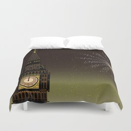 Big Ben And New Year Duvet Cover