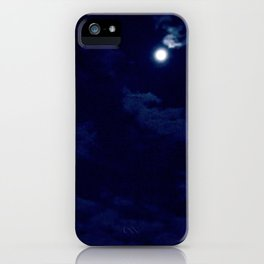The night with a hazy moon iPhone Case