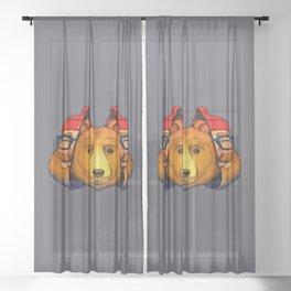 Bear Inside Sheer Curtain