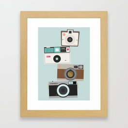 Retro Camera Print  Framed Art Print