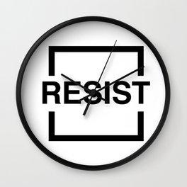 Resist 1 Wall Clock