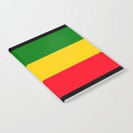 Rastafarian Colors Notebook