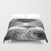 tree of life Duvet Covers featuring Life Tree by Murat Erturk