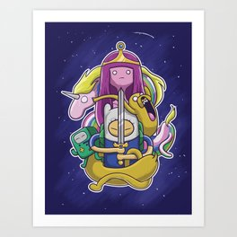 Fin and Friends Art Print
