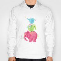 nursery Hoodies featuring Elephants by Freeminds