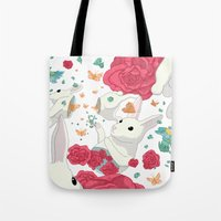 easter Tote Bags featuring Easter by Devin McGrath