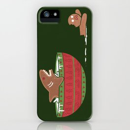 Gingerbread Jaws iPhone Case