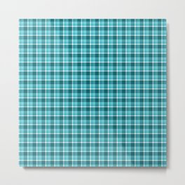 Teal Plaid Metal Print